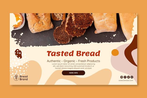Sjabloon voor spandoek van vers brood