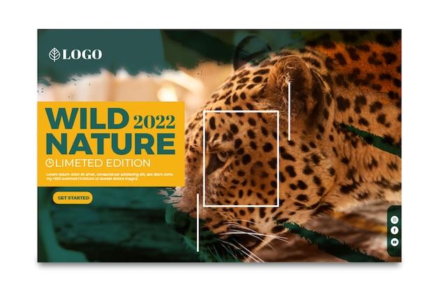 Sjabloon voor spandoek van wilde natuur