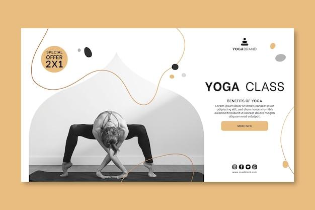 Sjabloon voor spandoek van yoga