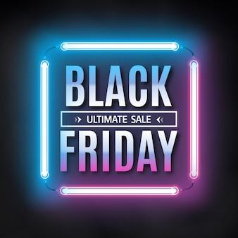 Sjabloon voor spandoek van zwarte vrijdag verkoop