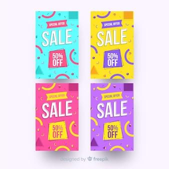 Sjabloon voor spandoek verkoop, mega deal kortingsaanbieding