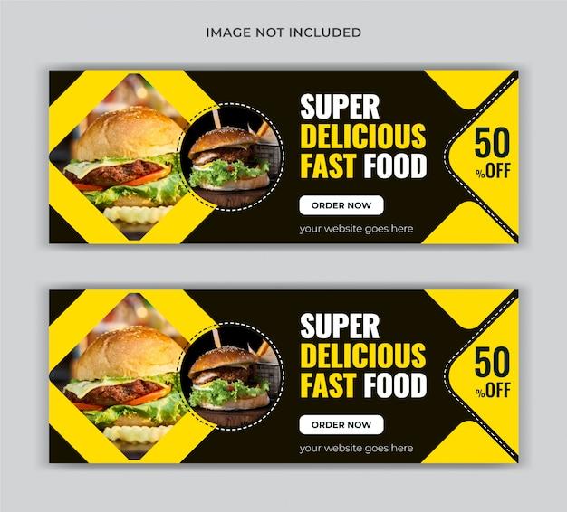 Sjabloon voor spandoek voedsel facebook dekking
