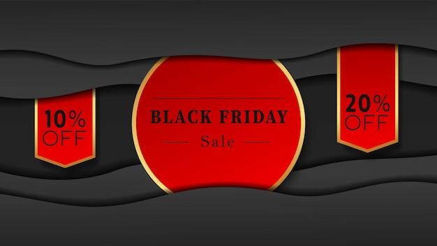Sjabloon voor spandoek voor black friday-verkoop voor het verkopen van een product