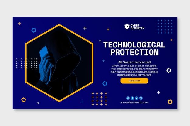 Sjabloon voor spandoek voor cyberbeveiliging