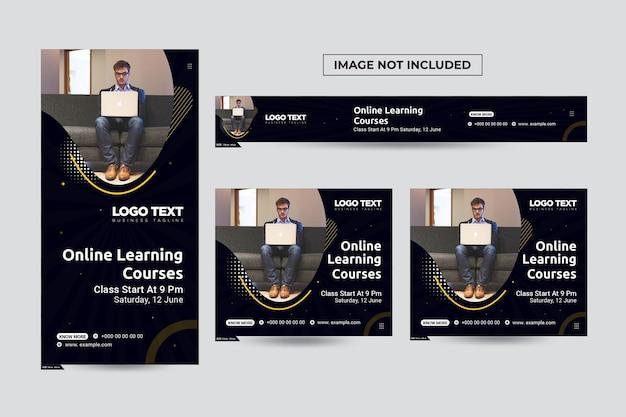 Sjabloon voor spandoek voor digitale marketingcursussen