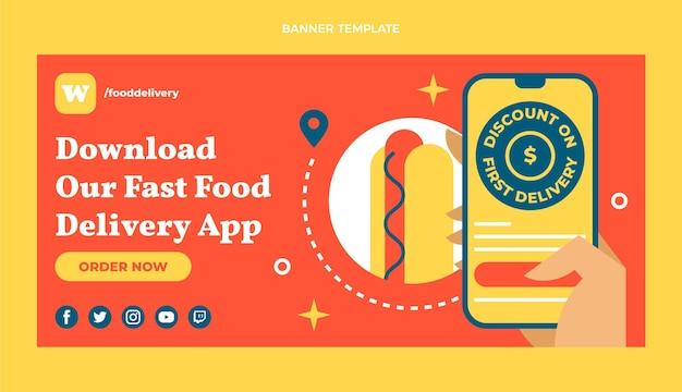Sjabloon voor spandoek voor fastfood-app
