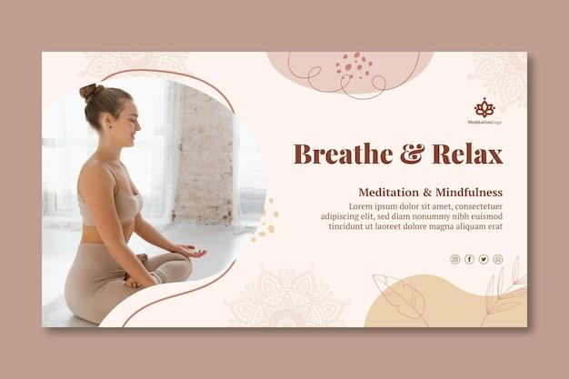 Sjabloon voor spandoek voor meditatie en mindfulness