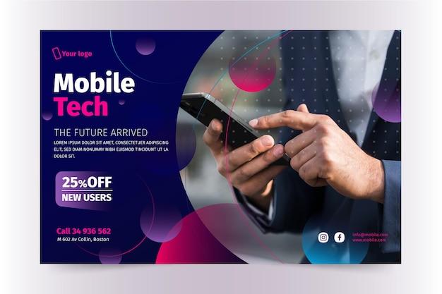 Sjabloon voor spandoek voor mobiele technologie