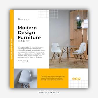 Sjabloon voor spandoek voor moderne designmeubels te koop