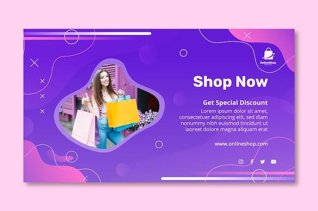 Sjabloon voor spandoek voor online winkelen