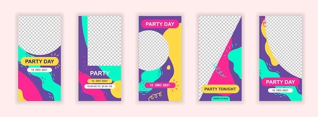 Sjabloon voor spandoek voor partij evenement sociale media