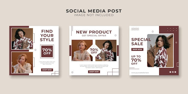 Sjabloon voor spandoek voor reclame voor modewinkels voor sociale media