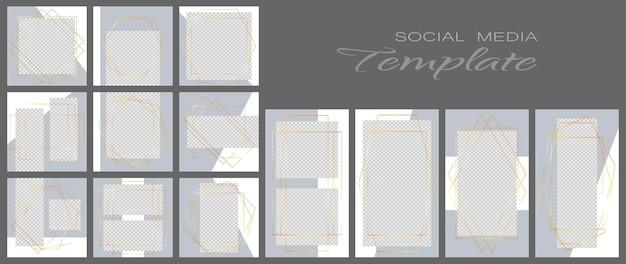 Sjabloon voor spandoek voor sociale media. bewerkbare mockup voor verhalen, persoonlijke blog, lay-out voor promotie.