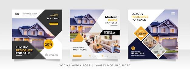 Sjabloon voor spandoek voor thuisverkoop voor sociale media