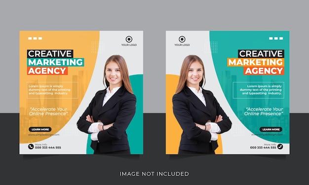 Sjabloon voor spandoek voor zakelijke marketing sociale media