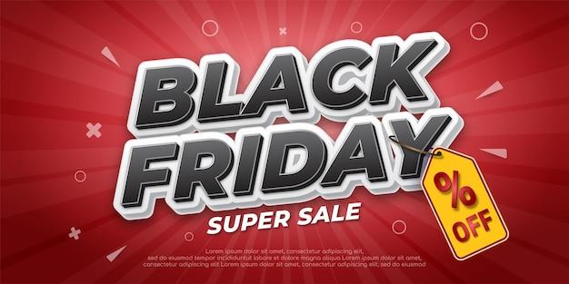Sjabloon voor spandoek voor zwarte vrijdag superverkoop