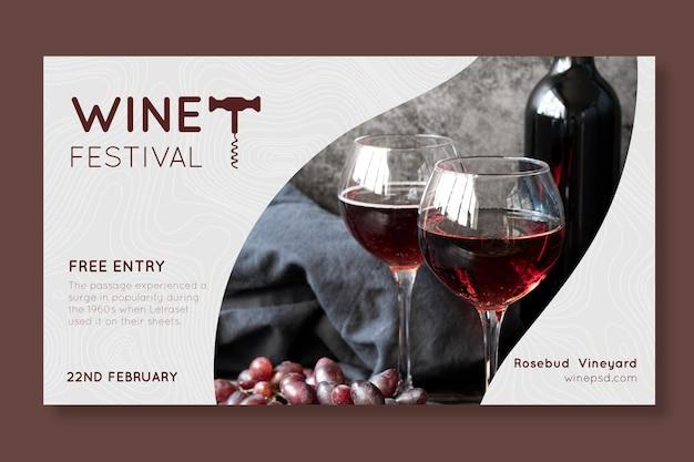 Sjabloon voor spandoek wijnfestival