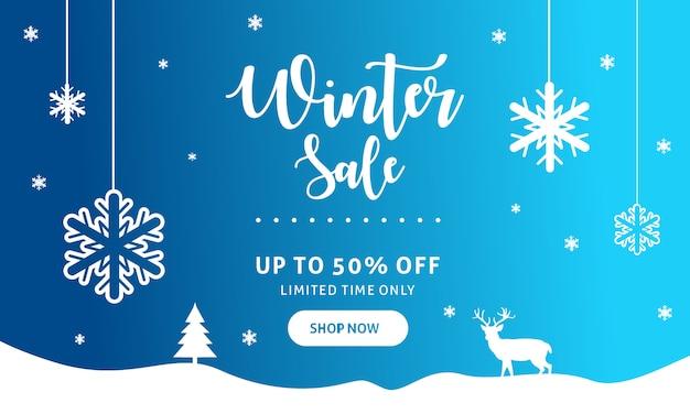 Sjabloon voor spandoek winterverkoop