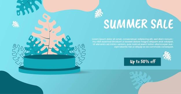 Sjabloon voor spandoek zomeruitverkoop