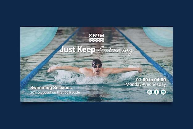 Sjabloon voor spandoek zwemmen