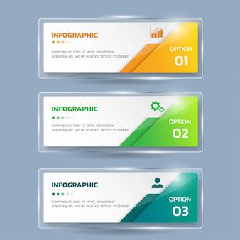 Sjabloon voor spandoeken voor zakelijke infographics