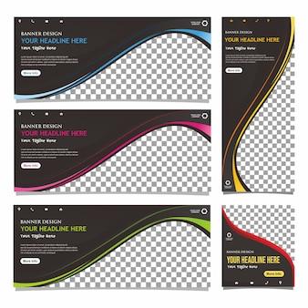 Sjabloon voor spandoeken voor zakelijke web