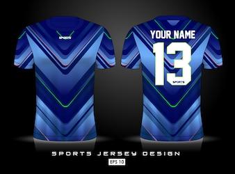 Sjabloon voor sport-jersey