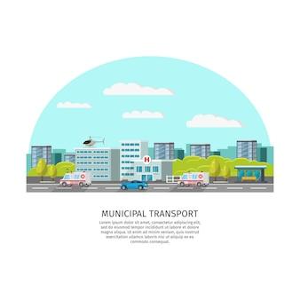 Sjabloon voor stadsvervoer licht