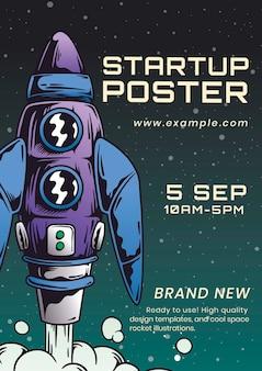 Sjabloon voor startende zakelijke poster