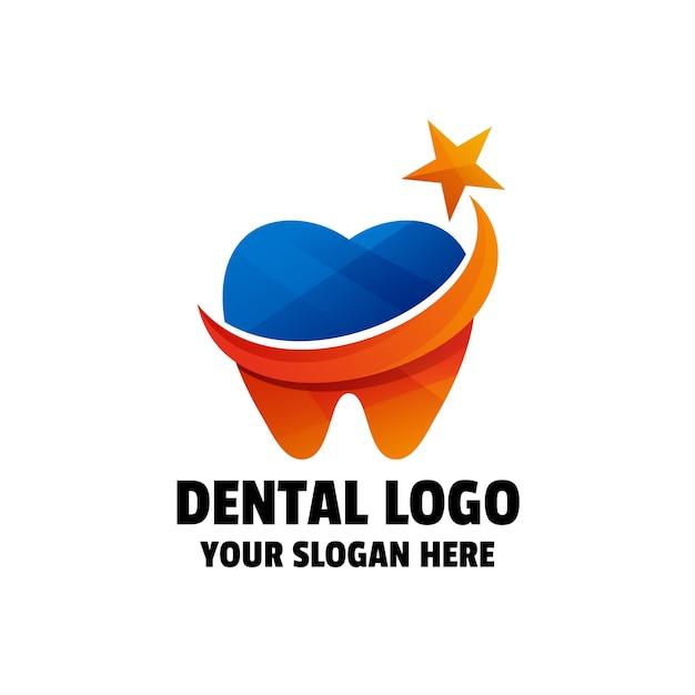 Sjabloon voor tandverloop kleurrijk logo logo