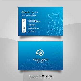 Sjabloon voor technologie visitekaartjes