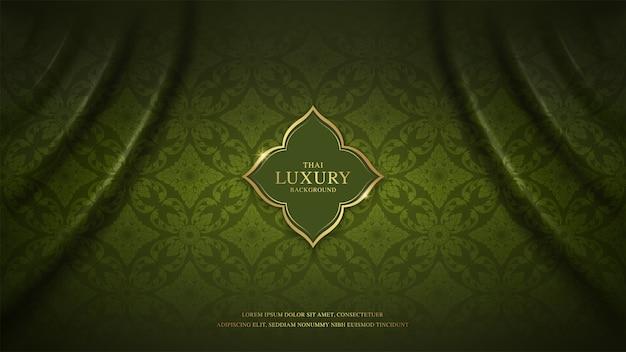 Sjabloon voor thaise kunst luxe spandoek