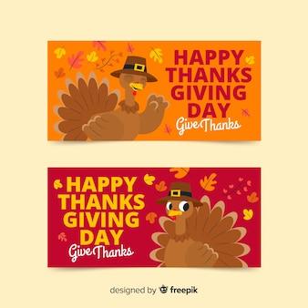 Sjabloon voor thanksgiving day banners