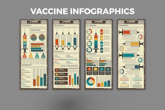 Sjabloon voor vaccin-infographic