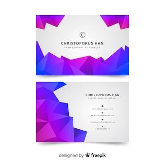 Sjabloon voor veelhoekige abstracte visitekaartjes