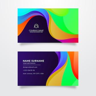 Sjabloon voor veelkleurige visitekaartjes
