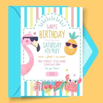 Sjabloon voor verjaardagskaarten voor kinderen