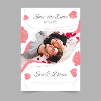 Sjabloon voor verlovingsuitnodiging met foto