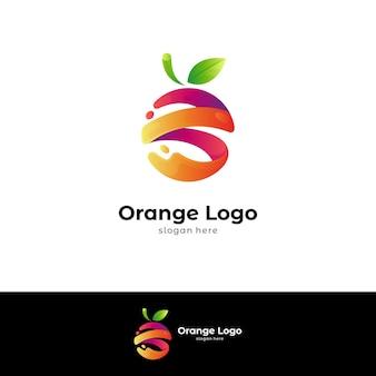 Sjabloon voor vers oranje logo