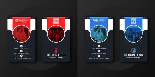 Sjabloon voor verticaal digitaal zakelijk visitekaartje
