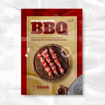 Sjabloon voor verticale barbecue voor barbecue