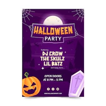 Sjabloon voor verticale halloween-feestposter met verloop