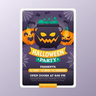 Sjabloon voor verticale halloween-poster met verloop