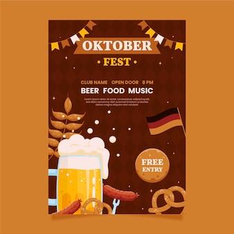 Sjabloon voor verticale oktoberfest-posters
