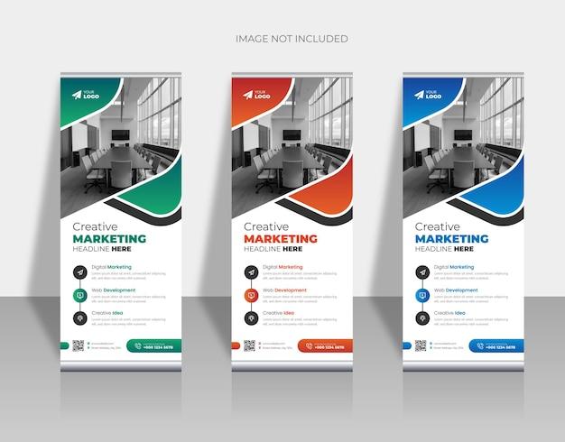 Sjabloon voor verticale oprolbare banner voor bedrijven