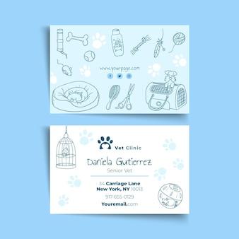 Sjabloon voor veterinaire visitekaartjes