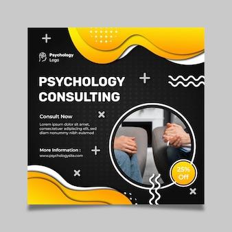 Sjabloon voor vierkante flyer psychologie