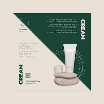 Sjabloon voor vierkante flyers met natuurlijke producten