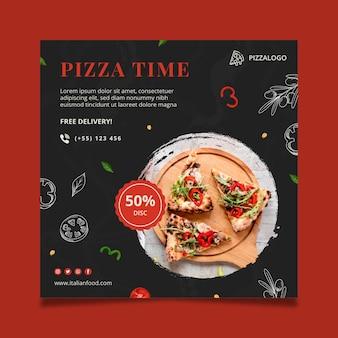 Sjabloon voor vierkante flyers voor italiaans eten