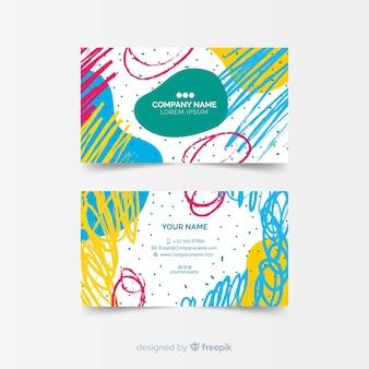 Sjabloon voor visitekaartje gemaakt in verf